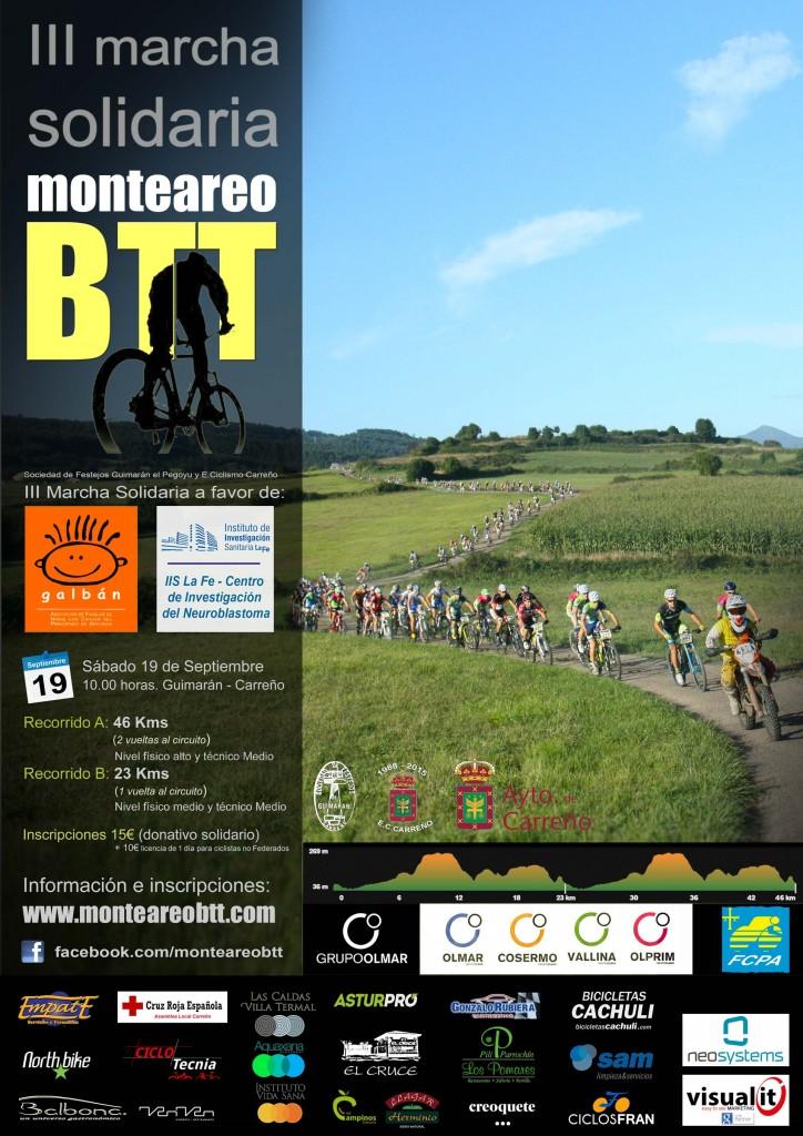 Cartel Monte Areo BTT 2015